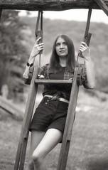 Hellen (Vakkor's Photostream) Tags: analog analogfilm bwfilm selfdeveloped nikonn90s girl polypanf portret kodakhc110 5018 35mmfilm expiredfilm expired