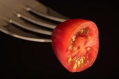 Snack tomato (Hans Lambregts) Tags: macromondays stylingfoodonafork