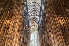 Cologne Cathedral Nave (Jill Clardy) Tags: cruise river germany cologne viking rhine northrhinewestphalia world heritage architecture site catholic cathedral smoke gothic unesco nave smoky mass incense 201906029l8a5622
