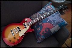 Tokai Love Rock Guitar, June 24, 2019 (Maggie Osterberg) Tags: leica m9p zeisscsonnar5015 maggieo lincoln nebraska guitar tokai loverock gibsonpickups colorefexpro4