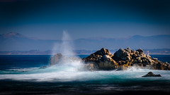 Splash on the Rocks  TL (CDay DaytimeStudios w /1 Million views) Tags: ca pebblebeach water 17miledrive pacificcoasthighway bluesky california highway1 montereyca pacificgrove carmelca ocean pacificcoast beach sky seascape coastline landscape rocks montereybay