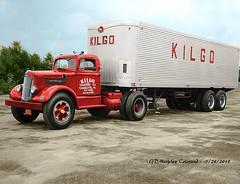 White KILGO Colorized (gdmey) Tags: white whitemotortruck fallenflag colorized trucks transportation truck trucking