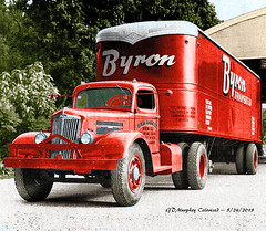 White Byron - Colorized (gdmey) Tags: white whitemotortruck fallenflag colorized trucks transportation truck trucking
