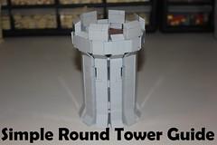 Simple Round Tower Guide (-soccerkid6) Tags: lego moc creation tower guide medieval castle design technique tutorial floor crenelations battlements arrowslits brickbuilt