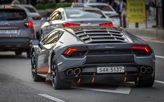 (seua_yai) Tags: automobile car asia southkorea candid people transportation traffic wheels street koreaseoul2019 italian exotic lamborghini supercar sportscar