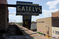 Gatelys Peoples Chicago Roseland Sign (nitram242) Tags: abandoned chicago gatelys fire demolition roseland store departmentstore peoplesstore