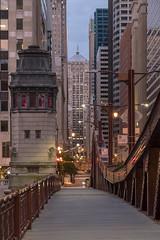 Old School (urbsinhorto1837) Tags: bridge architecture city light urban chicago skyline clouds buildings outdoors cityscape overcast rivernorth bridgehouse chicagoboardoftrade