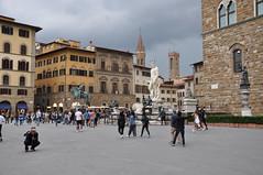 Piazza della Signoria (Ryan Hadley) Tags: piazzadellasignoria piazza square florence italy europe worldheritagesite renaissance sculpture art fountain equestrianmonumentofcosimoi cosimodemedici fountainofneptune neptune