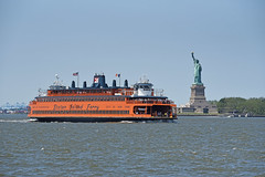 Picture Of Staten Island Ferry (John F Kennedy) Passing In Front Of State Of Liberty Taken From Governors Island In New York City. Photo Taken Sunday June 23, 2019 (ses7) Tags: governors island viewstatue of libertystaten ferry