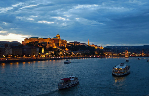 The Royal Palace and Danube at Dusk - Budapest