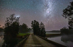 Me, in the mist, after midnight (nightscapades) Tags: newsouthwales australia astronomy astrophotography eurobodalla galacticcore milkyway night nightscapes river sky southcoastnsw stars tuross turosshead turossriver