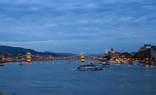 The Danube at Dusk - Budapest