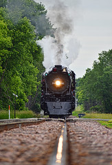 Out on a Rail (Jacob Narup) Tags: steam steamengine steamlocomotive steamtrain train trains railfan railroad railfanning milw milwaukeeroad milw261 261 milwaukeeroad261 milws3 s3 minnesota mn cologne colognemn cologneminnesota track traintrack