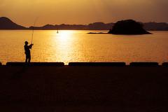 Matsuyama Port Sunset Fisher (Bracus Triticum) Tags: matsuyama port sunset fisher people silhouette ehimeprefecture shikoku 四国 愛媛県 松山市 日本 japan 5月 五月 早月 gogatsu satsuki fastmonth 2018 令和元年 summer may reiwa