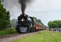The Milwaukee Road (Jacob Narup) Tags: steam steamengine steamlocomotive steamtrain train trains railfan railroad railfanning milw milwaukeeroad milw261 261 milwaukeeroad261 milws3 s3 minnesota mn brownton browntonmn browntonminnesota runby photorunby stationsign codeline smoke