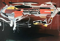 Jim Harris: Staging Area - 24 Boötis b. (Jim Harris: Artist.) Tags: art arte painting kunst konst künstler kunstzeitgenössische tokyo technology futuretech futurism futuristic space cosmos artist saatchi lartabstrait collector