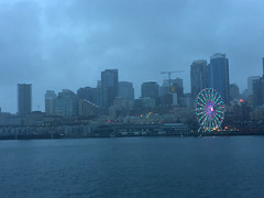 2019 YIP Day 34: Mostly grey (knoopie) Tags: 2019 february iphone picturemail 2019yip project365 365project 2019365 yiipday34 day34 seattle grey skyline bigwheel