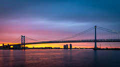 Philadelphia, PA (Dante Fratto Photography) Tags: buildings camdenwaterfront cityscapes delawareriver newjersey pennslanding pennsylvania phila philadelphia philly skylines water clouds sunset wwwdantefrattocom wwwdantefrattophotographycom mantua gloucester