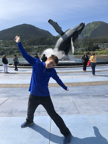 Grandson Tommy in Alaska Mimicking the Whale