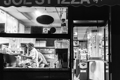 Late Night Pizza (Someone's Name) Tags: park summer newyork shop brooklyn dinner fastfood streetphotography parkslope latenight pizza pizzeria slope joespizza makingpizza atm cashonly gradepending italianice food oven