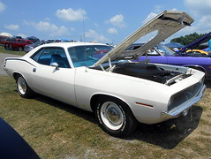1970 Plymouth 'Cuda (splattergraphics) Tags: 1970 plymouth cuda barracuda ebody mopar carshow carlisle carlisleallchryslernationals carlislepa