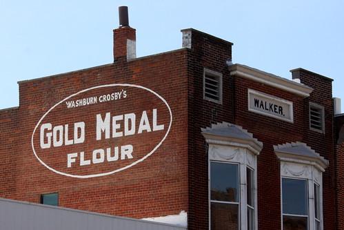 Gold Medal Flour mural -  Loogootee, IN