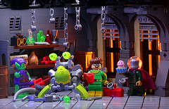 Doc Ock and Friends (Frost Bricks) Tags: lego minifigure photography moc doctor octopus mysterio green goblin spiderman minfigs mad scientist lab