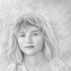 Black and White a young girl (jta1950) Tags: child kid enfant children person people portrait girl fille young bw blackandwhite noireblanc