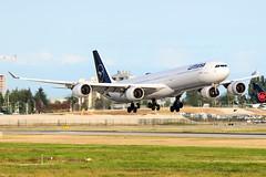 CYVR - Lufthansa A340-600 D-AIHI (CKwok Photography) Tags: yvr cyvr lufthansa a340 daihi