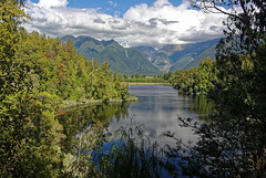 Lake Matheson (Tjaldur66) Tags: lake mountainlake mountains southernalps newzealand southisland lakematheson forest clouds travel outdoor hiking landscape scenery tranquility wilderness