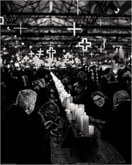 Winter Feast (niggyl (well behind)) Tags: darkmofo darkpark hobart hobarttasmania hobartstreets tasmania mona winterfeast feast cityofhobart princeswharfno1shed fujifilm fujifilmxh1 xh1 xtranssensor fujinon fujinonxf2314r fujixf2314r xf2314 xf23mm14r night nightphotography warehouse blackandwhite bnw candlelit candles refactory