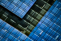 (jfre81) Tags: chicago downtown loop clark street building architecture modern v blue black diagonal geometric abstract minimalist james fremont photography jfre81 canon rebel xs eos