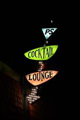 Cocktail Lounge (slammerking) Tags: colorado colfax cocktail bar night sign arrow