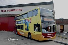 Go Ahead East Yorkshire 723, YX57BWE. (EYBusman) Tags: go ahead north east yorkshire motor service eyms hull bus coach cliff road hornsea depot alexander dennis enviro 400 volvo b9tl new livery yx57bwe eybusman