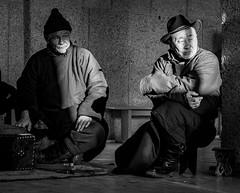 Two Shagai Players (Bulgam Sum, Mongolia. Gustavo Thomas © 2019) (Gustavo Thomas) Tags: shagai anklebones game mongolia mongolian people gente life bulgamsum gobi monochrome monoart bnwphotography bnw blackandwhite faces traveler voyager adventure
