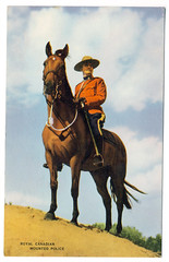 d u d l e y (epiclectic) Tags: graphic magazine ephemera horse rcmp royal canadian mounted police postcard