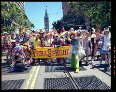 """""""Verasphere: A Love Story in Costume""""   The link to the video posted by KQED is in the description (below). You might hear a familiar voice at 15:25 (jimhairphoto) Tags: verasphere 2018 sanfrancisco pride parade marketstreet streetlife streetstories théâtrederue america sfo remainsoftheday naturalworld 4x5project crown graphic camera mfg1963 4x5 kodak ektar film jimhairphoto"""