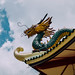 Dragon statue design in a Chinese temple