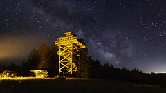 Summit Prairie Lookout (Brook Terwilliger) Tags: oregon brookterwilliger nightphotography nightscenes nightscapes night milkyway prairie summit lookout tower camping campfire stars starry sky