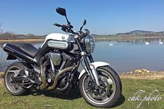 My big baby (chk.photo) Tags: landschaft outdoor landscape light motorbike motorrad lake yamaha see