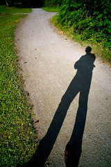 shadow / path (♫ marc_l'esperance) Tags: voigtlander15mmf45 superwideheliar manualphotography shadow selfportrait path park trees greenery evening wideangle nocrop uncropped marclesperancephoto 2019 cml luxmaticcom burnaby bc voigtlandersuperwideheliar15mmf45aspherical