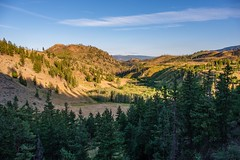 Last Sunlight at Hat Creek Road (MIKOFOX ⌘) Tags: canada trees britishcolumbia xt2 forest learnfromexif july landscape provia hills fujifilmxt2 summer showyourexif mikofox xf18135mmf3556rlmoiswr