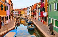 burano colors (poludziber1) Tags: burano venice italy street canal people