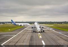 Airbus Family | #Airbus50 (jvreymondon) Tags: aviation aircraft aeronautics airbus airbus50 belugaxl a220 a320 a319neo a380 a330 a330neo a350 a350xwb