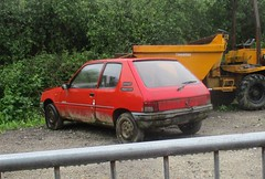 Peugeot 205 Inca (occama) Tags: peugeot 205 red inca old car scrap french cornwall uk 1990s