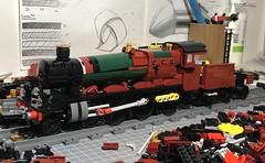 Olton Hall WIP (Britishbricks) Tags: lego hall class gwr steam train alton hogsmeade hogwarts harry potter wip