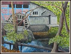 Ruine einer Wassermühle (antje whv) Tags: malerei painting acryl ruine wassermühle