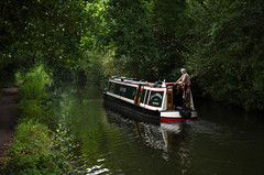 Basingstoke Canal Mytchett-Ash Vale 24 June 2019 009 (paul_appleyard) Tags: basingstoke canal mytchett surrey june 2019 huffler narrowboat water waterway still calm trees green reflections reflected boat