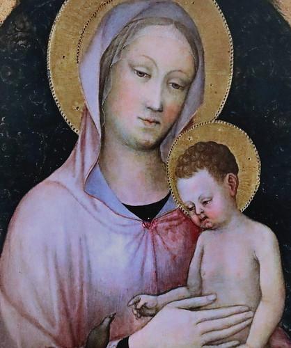 IMG_4214A Jacopo Bellini 1393-1470 Venise Vierge à l'Enfant Virgin and Child Bergamo Accademia Carrara