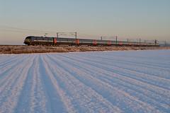 91121 Claypole (Gridboy56) Tags: eastcoast gner europe england electric railways railroad trains train uk locomotive locomotives london kingscross leeds coaches coach class91 91121 snow weather